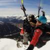 Airborne with paraglider
